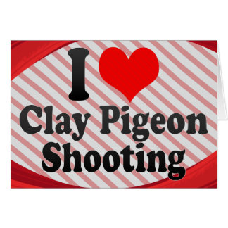 Amo el tiroteo del tiro de pichón tarjeta pequeña