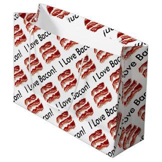 Amo el tocino bolsa de regalo grande