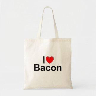 Amo el tocino (del corazón) bolsa tela barata
