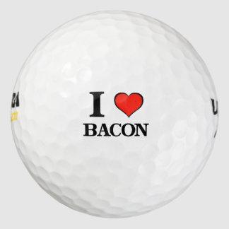 Amo el tocino pack de pelotas de golf