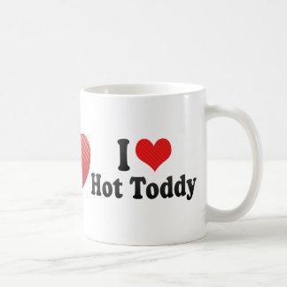 Amo el toddy caliente taza de café