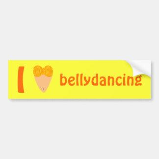 Amo el torso del bailarín de Bellydancing (el cora Pegatina De Parachoque