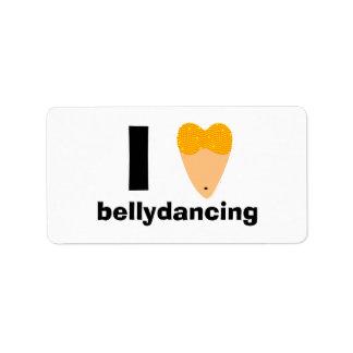 Amo el torso del bailarín de Bellydancing (el cora Etiqueta De Dirección