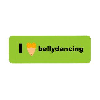 Amo el torso del bailarín de Bellydancing (el cora Etiqueta De Remite