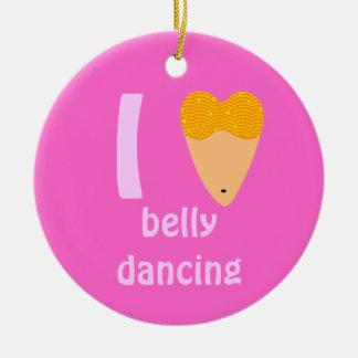 Amo el torso del bailarín de Bellydancing (el Adorno Redondo De Cerámica