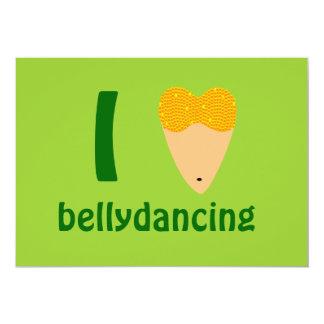 Amo el torso del bailarín de Bellydancing (el Invitación 12,7 X 17,8 Cm