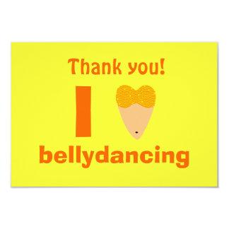 Amo el torso del bailarín de Bellydancing (el Invitación 8,9 X 12,7 Cm