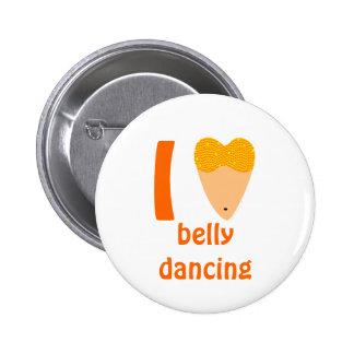 Amo el torso del bailarín de Bellydancing (el Pin Redondo De 2 Pulgadas