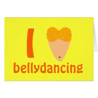 Amo el torso del bailarín de Bellydancing (el Tarjeta De Felicitación