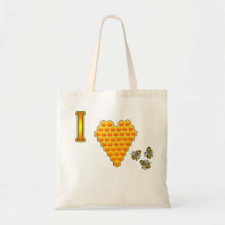 Amo el tote de las abejas bolsa tela barata