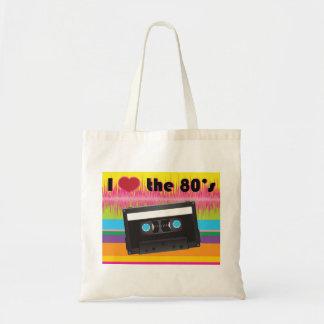 Amo el tote de los años 80 bolsa de mano