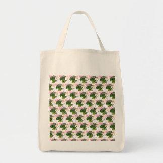 Amo el tote del bróculi bolsa tela para la compra