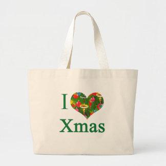 Amo el tote del navidad bolsas