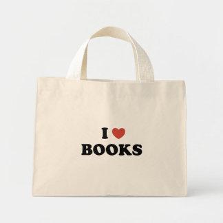 Amo el tote minúsculo de los libros bolsa