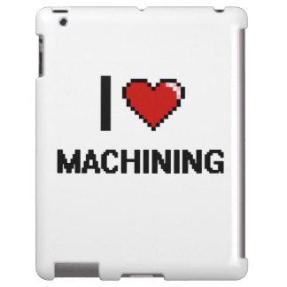 Amo el trabajar a máquina del diseño retro de funda para iPad
