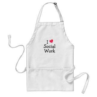 Amo el trabajo social delantal