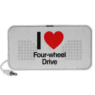 amo el tracción cuatro ruedas altavoz de viajar