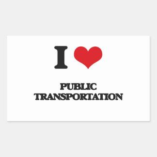 Amo el transporte público rectangular altavoz