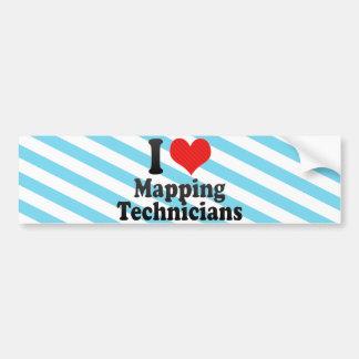 Amo el trazar de técnicos etiqueta de parachoque