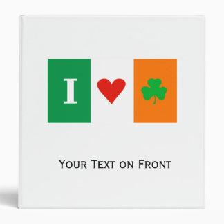 """Amo el trébol Irlanda del corazón Carpeta 1 1/2"""""""