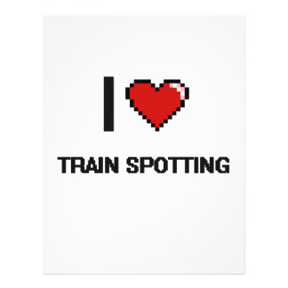 """Amo el tren que mancha el diseño retro de folleto 8.5"""" x 11"""""""