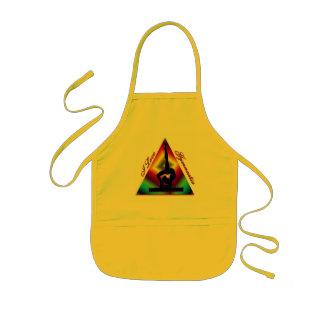 Amo el triángulo #3 de la gimnasia delantales