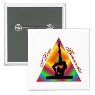 Amo el triángulo #4 de la gimnasia pin cuadrado