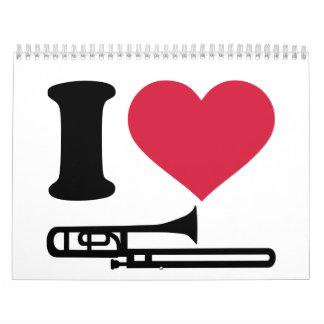 Amo el Trombone Calendarios