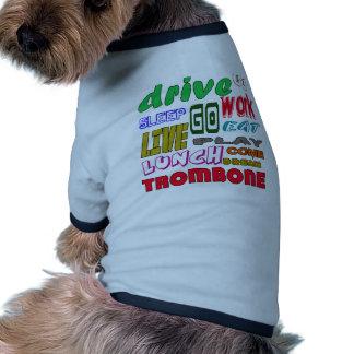 Amo el Trombone Camiseta Con Mangas Para Perro