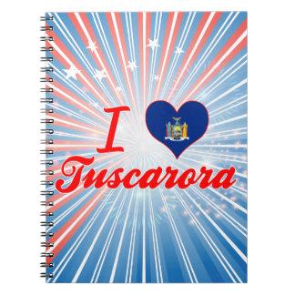 Amo el Tuscarora, Nueva York Libros De Apuntes