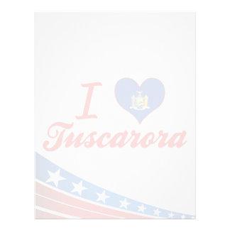 Amo el Tuscarora, Nueva York Membretes Personalizados