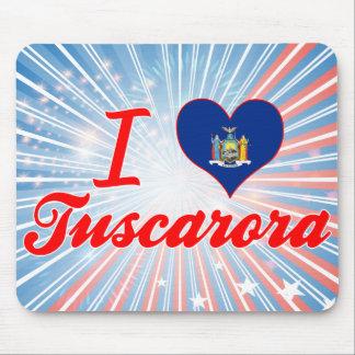 Amo el Tuscarora, Nueva York Alfombrillas De Ratones