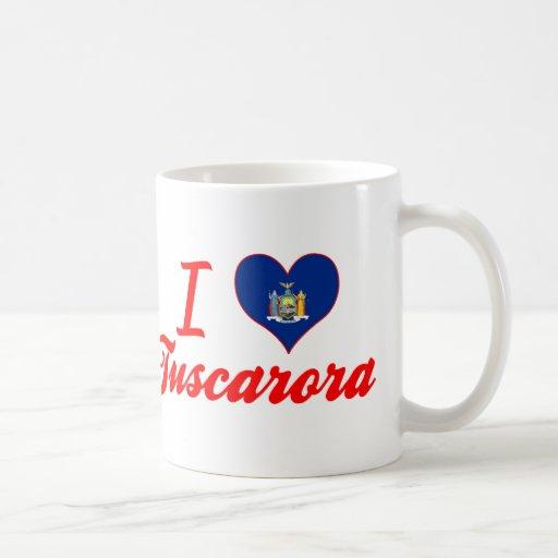 Amo el Tuscarora, Nueva York Tazas De Café