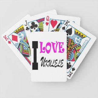 Amo el ukulele cartas de juego