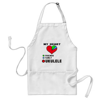 Amo el Ukulele. Delantal