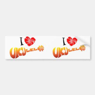 Amo el Ukulele Pegatina Para Auto