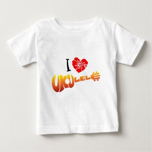 Amo el Ukulele Playera De Bebé