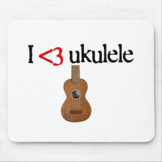 Amo el ukulele tapetes de raton