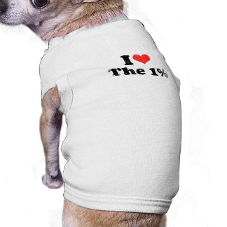 AMO el UN PERCENT png Camisetas Mascota