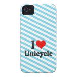 Amo el Unicycle iPhone 4 Cárcasa