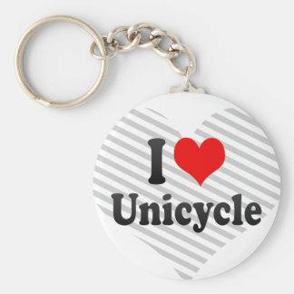Amo el Unicycle Llaveros Personalizados