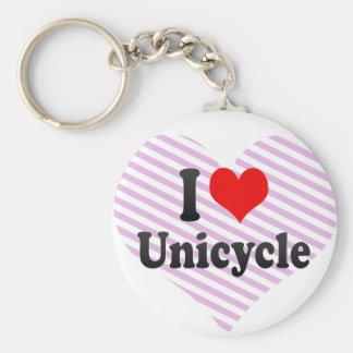 Amo el Unicycle Llavero