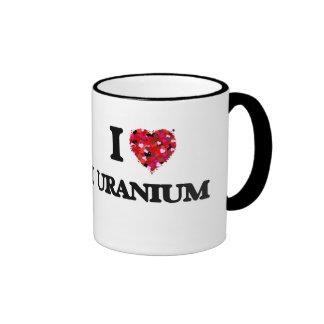 Amo el uranio taza de dos colores