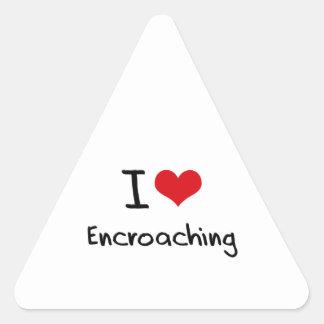 Amo el usurpar pegatina triangular