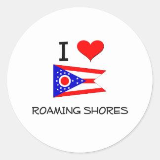 Amo el vagar por de las orillas Ohio Pegatina Redonda