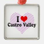 Amo el valle de Castro, Estados Unidos Adorno Navideño Cuadrado De Metal