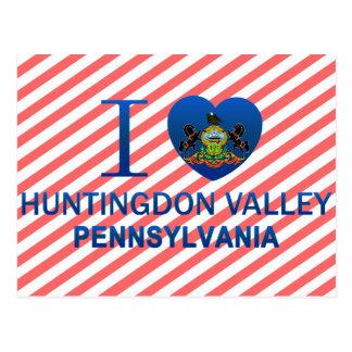 Amo el valle de Huntingdon, PA Tarjeta Postal