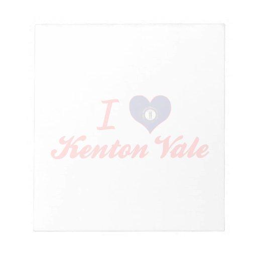 Amo el valle de Kenton, Kentucky Blocs De Papel