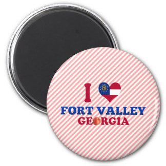 Amo el valle del fuerte, Georgia Imanes Para Frigoríficos