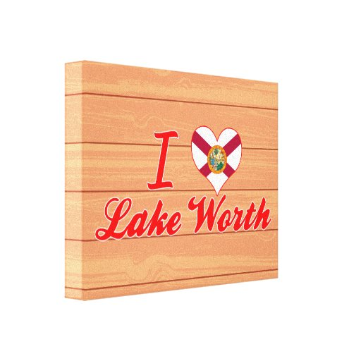 Amo el valor del lago, la Florida Impresiones En Lienzo Estiradas